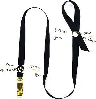Zip My Dress Premium Zipper Puller with Black Ribbon