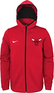 NIKE Youth Chicago Bulls On-Court Red Dri-FIT Showtime Full-Zip Hoodie (S)