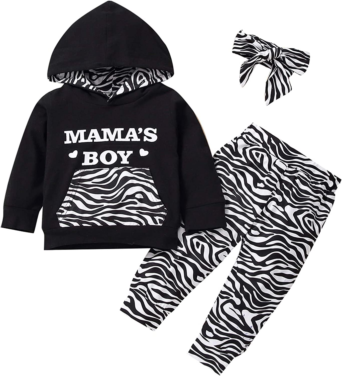 Toddler Infant Baby Boys Dinosaur Outfit,Newborn Long Sleeve Camouflage Hoodie Tops Fall Winter Sweatsuit Pants Outfit Set