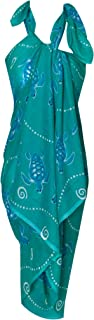 Women's Beach Sarong Pareo Cover Up with 2 Hair Ties