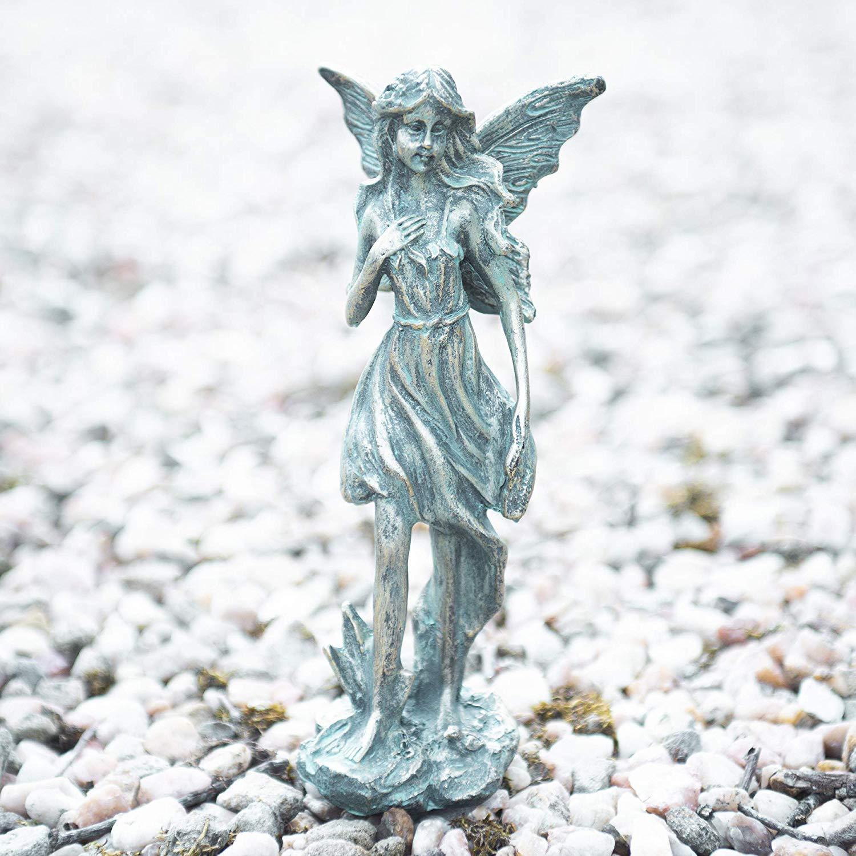 garden mile® - Juego de 2 estatuas Decorativas de Hadas de jardín | Estatuas Miniatura para