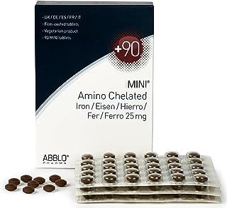 ABBLO Hierro Bisglycinate 25mg. / Amino-Chelated HIERRO 25mg. 1 tableta al día es suficiente (90 tabletas)