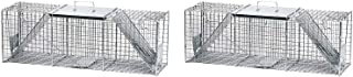 Havahart 1045 Live Animal Two-Door Raccoon, Stray Cat, Opossum, and Groundhog Cage Trap (Pack of 2)