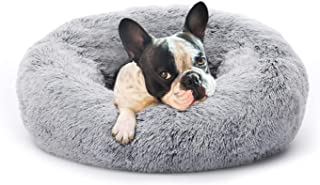 Zenobia Dog Beds, Calming Donut Cat Bed Comfortable Faux Fur Cuddler Soft Plush Waterproof Self Warming Fluffy Round Cuddl...