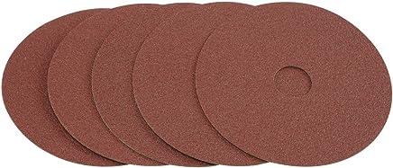 4-1/2 in  80 Grit Resin Fiber Sanding Discs 5 Pc - - Amazon com