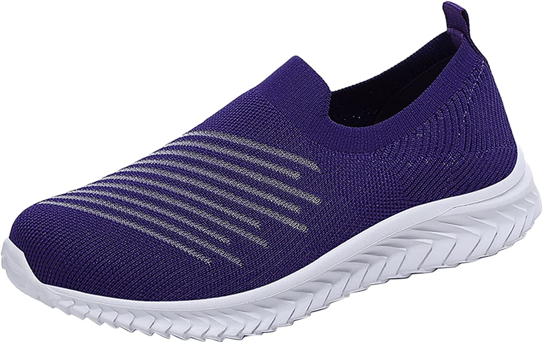 USYFAKGH Women's Casual Walking Shoes Breathable Mesh Work Slip-on Sneakers