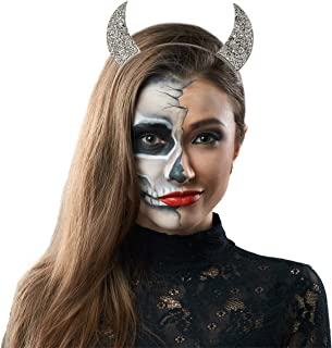 Lux Accessories Halloween Girls Fun Silver Tone Devil Horn Mixed Metals Costume Fashion Headband