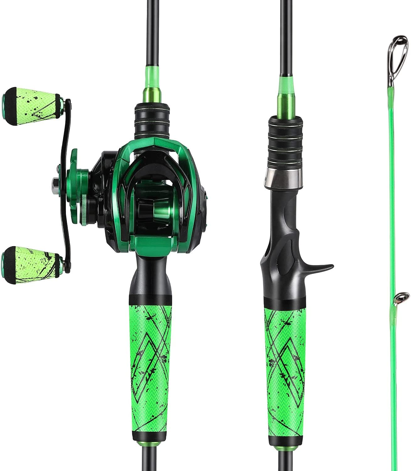 One Bass Fishing Rod and Supe Reel Baitcasting Combo with Manufacturer regenerated product Outlet sale feature
