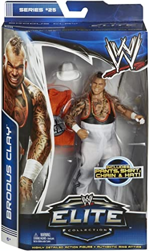 Brodus Clay 7.25 Figure w  Pants, Shirt, Chain & Hat  WWE Elite Collection Action Figure Series by WWE