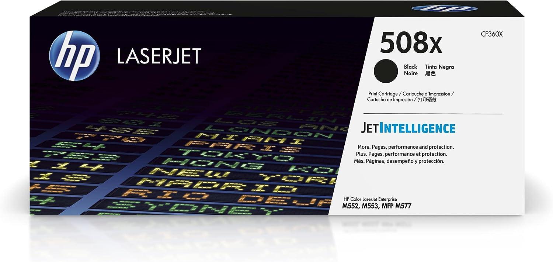 HP 508X | CF360X | Toner-Cartridge | Black | Works with HP Color LaserJet Enterprise M553 series, M577 series | High Yield