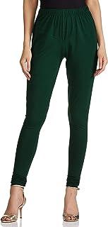 Lux Lyra Women's Leggings Silk_06_Bottle Green_Free Size