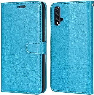 Laybomo Carcasa para Huawei Nova 5 Pro/Nova 5 Tapa Funda Cuero Estilo-Sencillo Monederos Billetera Bolsa Magnética Protect...