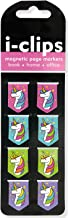 Unicorns i-Clips Magnetic Page Markers (Set of 8 Magnetic Bookmarks)
