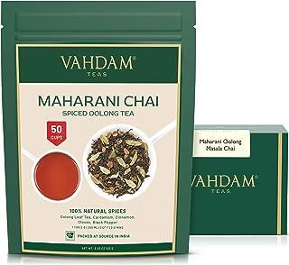 VAHDAM, Maharani Chai Oolong Tea (50 Cups)   100% NATURAL SPICES   Masala Chai Tea Loose Leaf   Cardamom, Cinnamon, Clove,...