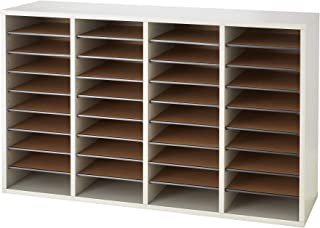 Safco Products Wood Adjustable Literature Organizer, 36 Compartment 9424GR, Gray, Durable Construction, Removable Shelves,...