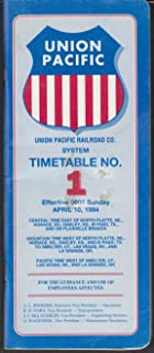 union pacific employee timetable