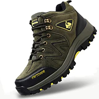 [RDGO] メンズ ハイキングシューズ トレッキングブーツ 登山靴 アウトドアシューズ 防滑 牛革 ローカット ウォーキングシューズ 防水 大きいサイズ 幅広 スニーカー