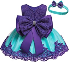 KILO&METERS Christening Lace Flower Baby Girl Dress Formal Prom Tutu Ball Gown