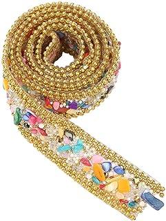 100 * 2cm Ruban Diamant Ruban Strass, Rouleau Diamant Maille Étincelle Petit Diamant pour Mariage Décoration D'anniversair...