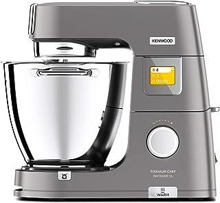 Kenwood Titanium Chef Pâtissier XL KWL90.034SI, Robot Pâtissier Multifonction avec Bol de 7L, 1400 W, Argent [Exclusif Ama...