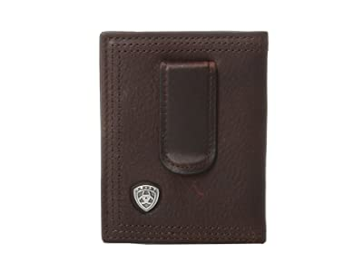 Ariat Ariat Shield Bi-Fold Money Clip (Dark Copper) Wallet Handbags