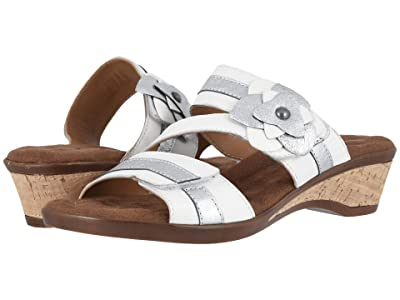 Walking Cradles Kimmy (White Leather/Silver Leather) Women