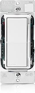 Leviton DSX12-70Z Decora Rocker Slide Mark 10 Powerline Dimmer, White/Ivory/Light Almond