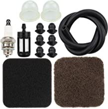 Pre Air Filter with Primer Bulb Fuel Line Spark Plug Grommet for Stihl FS75 FS80R FS85R FS85T FS85RX HS80 HT75 Tuneup Kit String Trimmer Brushcutter