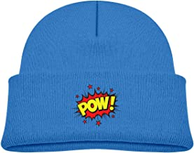 Voxpkrs Word Bubble Pow Baby Infant Toddler Winter Warm Beanie Hat Cute Kids Thick Stretchy Cap Cool 32302