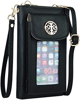 PUFER Cell Phone Wallet Purse Crossbody Bag RFID Blocking Small