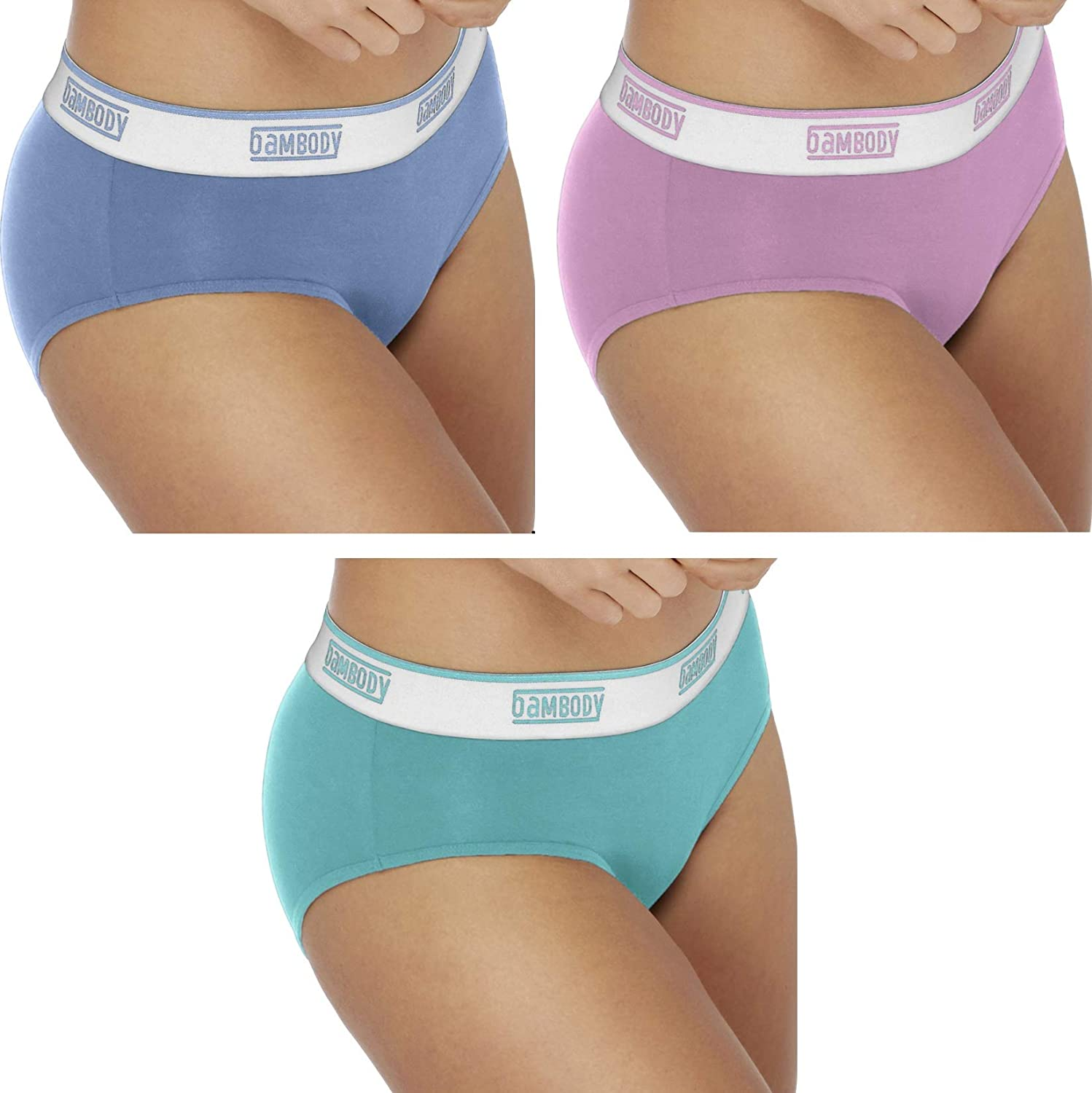 Sporty Period Panties Protective Active Wear Underwear Bambody Absorbent Hipster