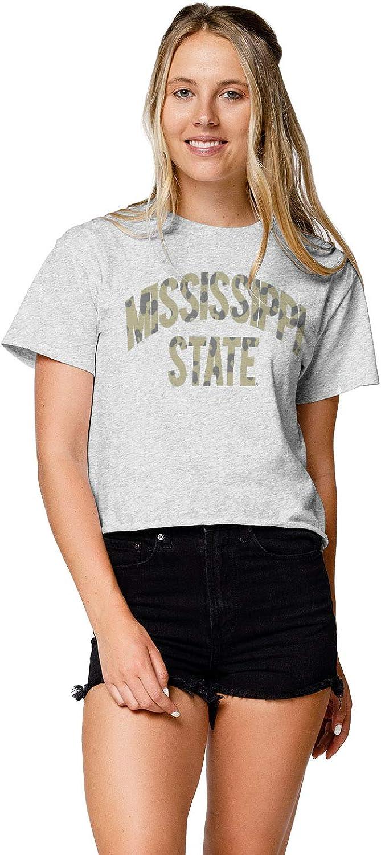 LEAGUE LEGACY NCAA Womens Clothesline Cotton Crop Top