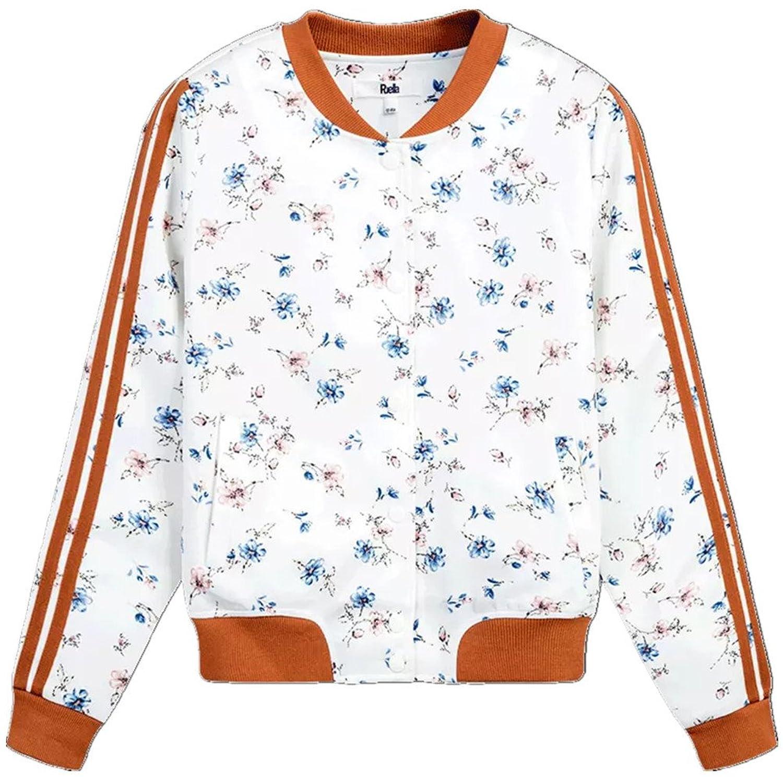 [美しいです] レディース コート 防風 花柄ジャケット カジュアル 野球シャツ 春服