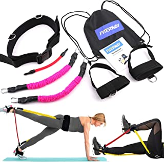 FITERWAY Booty Belt Resistance Bands Set Athletics Band Sets for Women Butt and Leg System Workout Lifter Tones Sculpts Speed Agility Training Tool for Kinetic Bands