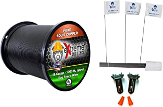 16 Gauge Wire 1000 Ft - Heavy Duty Pet Containment Wire + Flag Bundle - Compatible with Every In-Ground Fence System for Dogs - Or 20 Gauge Wire Option