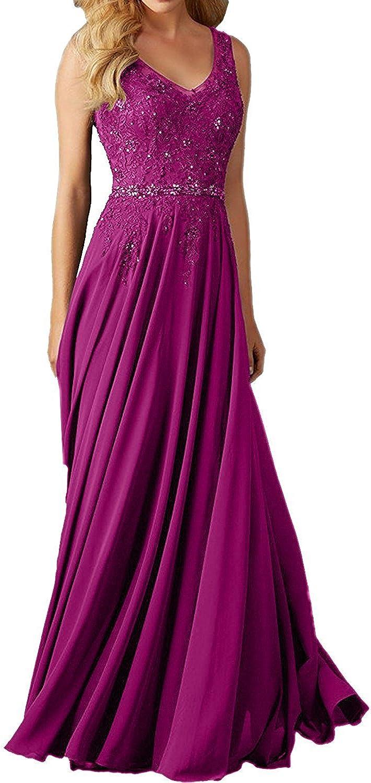 Faironline Women's V Neck Appliques Long Eveni Beaded Direct sale of manufacturer Prom Don't miss the campaign Dress