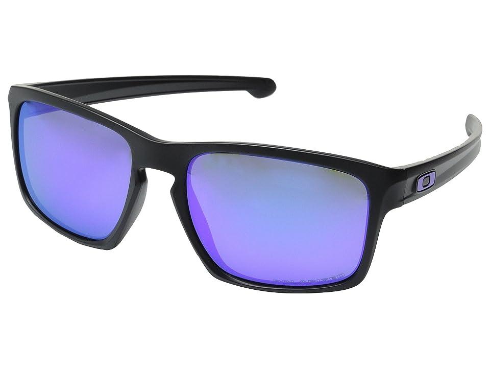Oakley Sliver (Matte Black/Violet Iridium Polarized) Sport Sunglasses