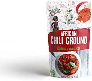 Iya Foods Chili Pepper Ground 5 ounces, Kosher Certified, No Preservatives, No Added Color, No Additives, No MSG…