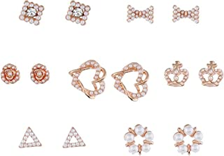 MingXinLong 2 Pieces//Set Fashionable Gorgeous Retro Branch Brooches Pins Pearls Crystal Rhinestone Brooches Pins