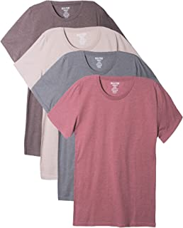Bolter 4 Pack Men`s Everyday Cotton Blend Short Sleeve T-Shirt