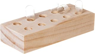 Natural Wood Capsule Holder Tray for Upright Filling of Empty Capsules (5 Slots for Size
