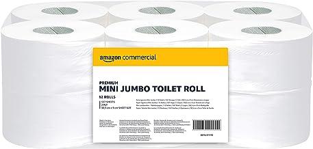 AmazonCommercial - Rollo de papel higiénico Mini Jumbo de uso profesional, paquete de 12