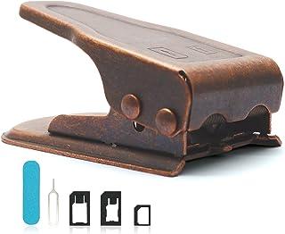 Ciscle SIM カッター SIMパンチ Sim/Micro/Nano 両方対応SIMカッター Sim nanoSIM microSIM cutter (ブロンズ)
