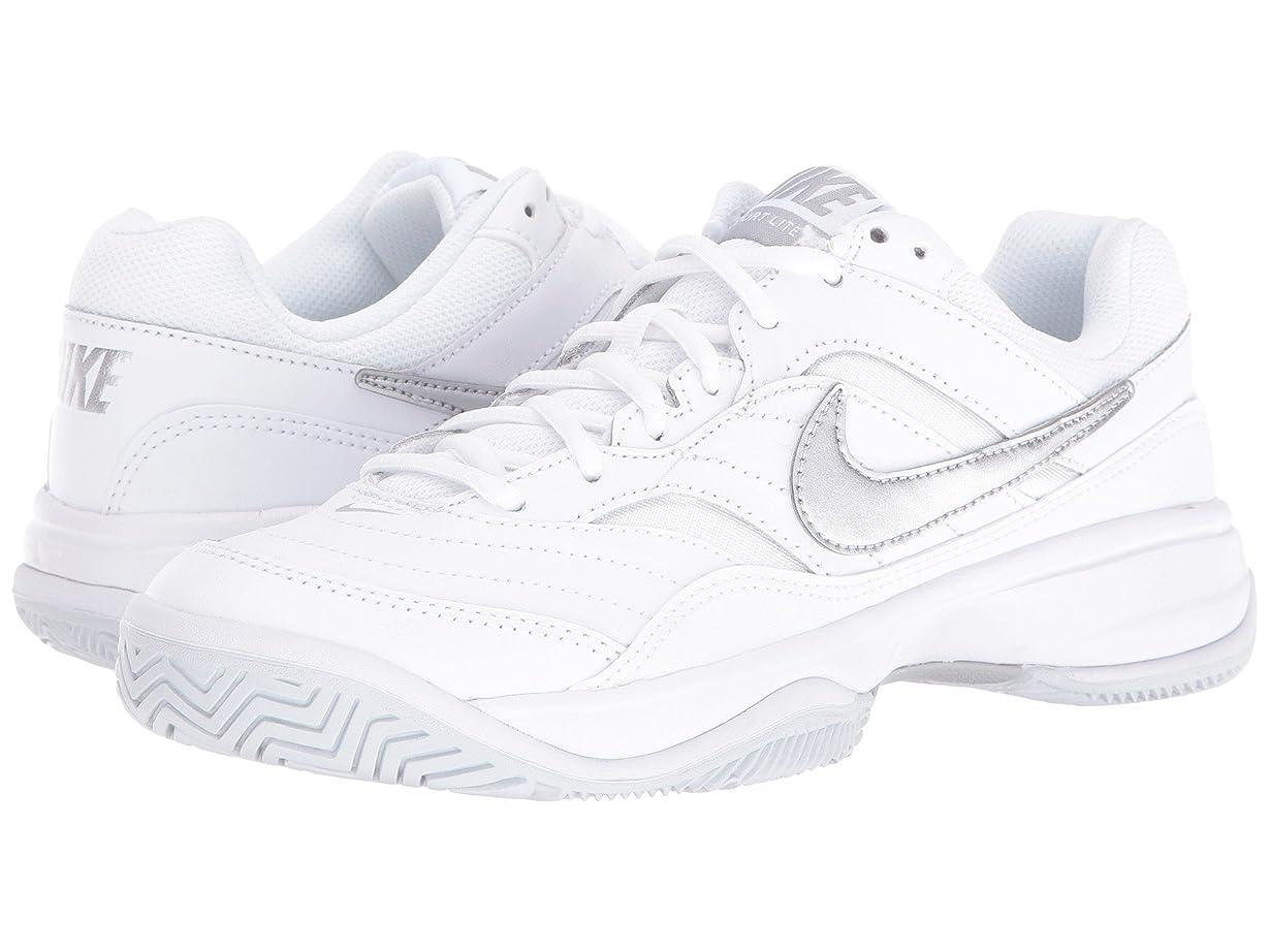 バンジョー費やす一握り(ナイキ) NIKE レディーステニスシューズ?スニーカー?靴 Court Lite White/Medium Grey/Matte Silver 6 (23cm) B - Medium