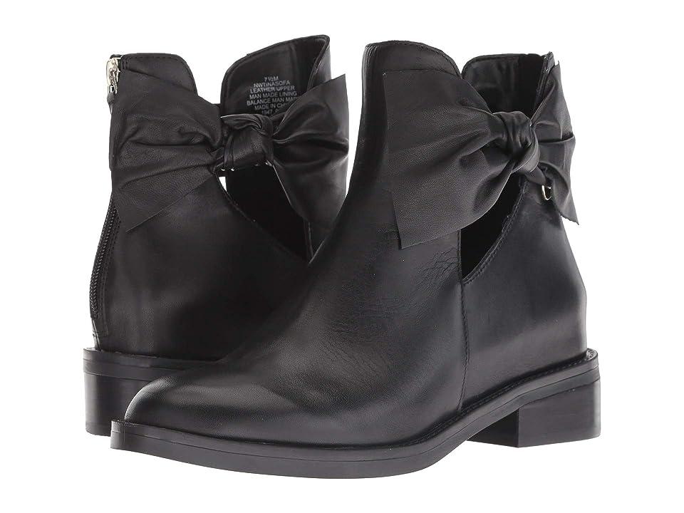 Nine West Tinasofa (Black/Black Leather) Women