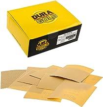 Dura-Gold - Premium - Variety Pack/Assortment (80,120,150,220,240,320,400,600,800,1000) - 1/4 Sheet Hook & Loop or Clip Sandpaper 5.5