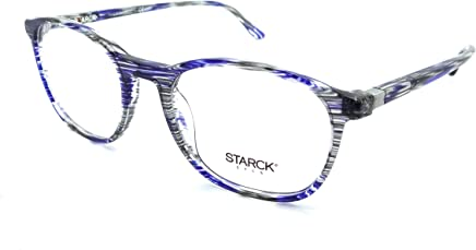 cfb38d39a07 Starck Eyes Mikli Rx Eyeglasses Frames SH3045 0001 52-19-140 Striped Blue  Grey
