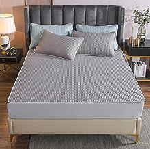 Summer sleeping mat sheets thickened cool feeling silk printing latex mat air-conditioning latex soft mat three-piece set ...