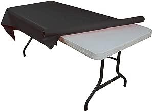 Black plastic table roll
