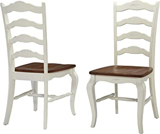 French Countryside Oak/White Pair of Chairs by Home Styles